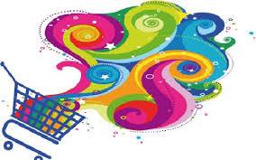 carrello spesa multicolor